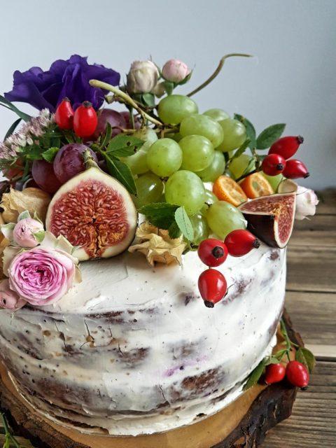 tort jesienny naked cake