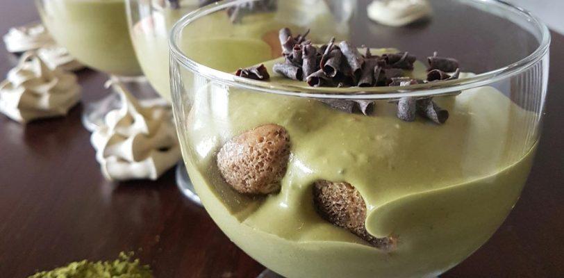 tiramisu z zielona herbata Matcha