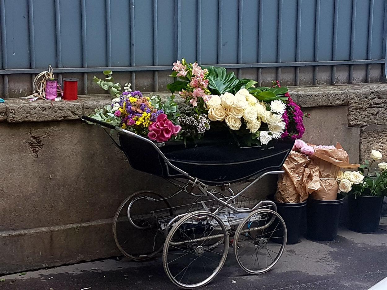 paryz uliczna kwiaciarnia