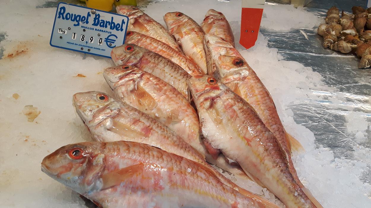 targowisko paryskie ryby