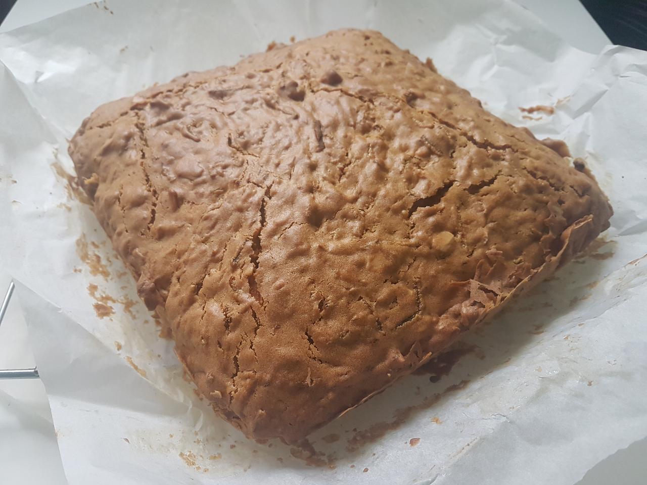 ciasto z dyni hokkaido po upieczeniu