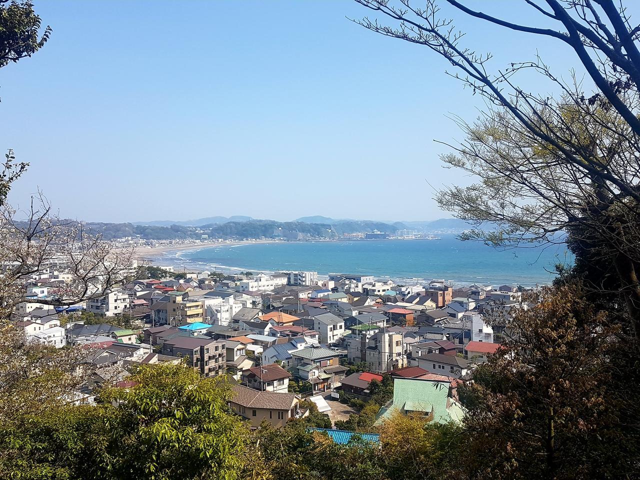 Kamakura widok na ocean Japonia