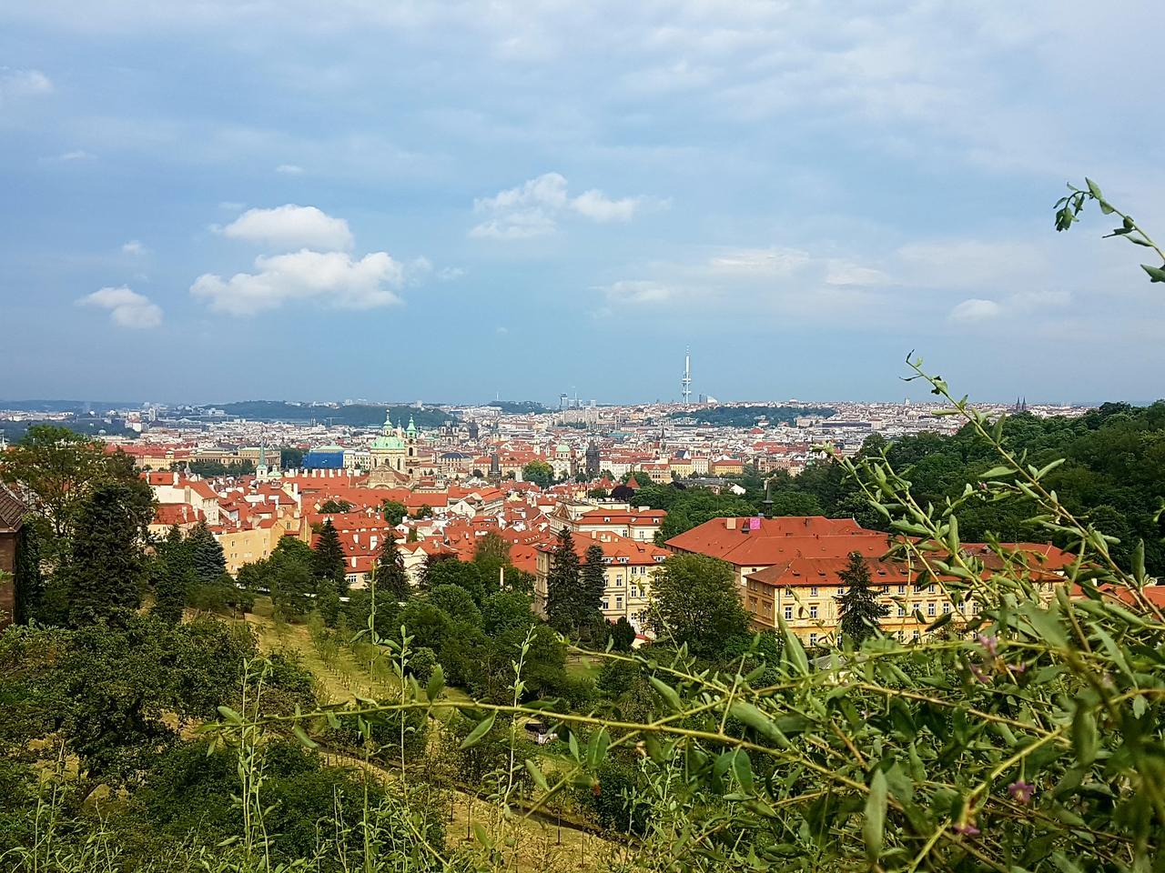 widok Praga czeska Strahov