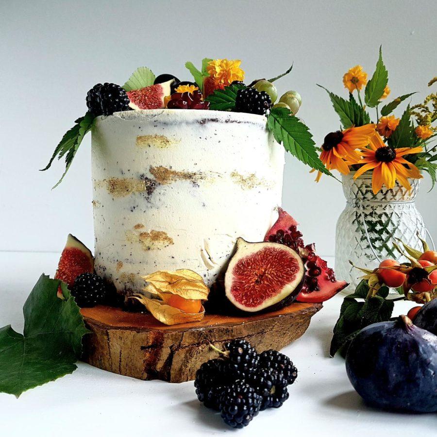 jesienny naked cake
