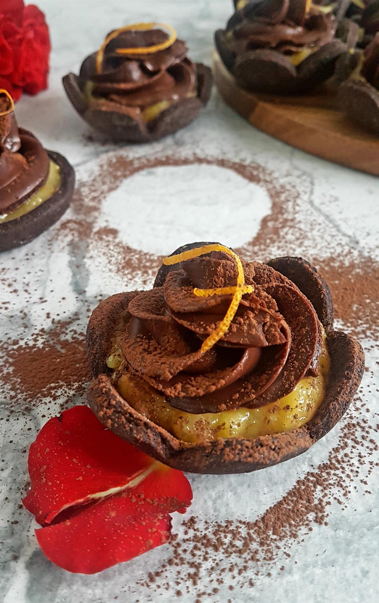 tartoletki czekoladowe z ganache