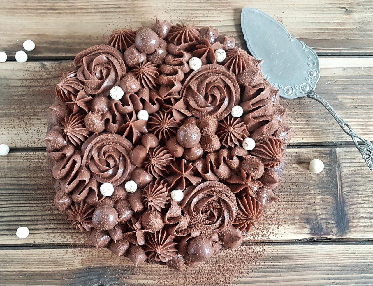 brownie z ganache