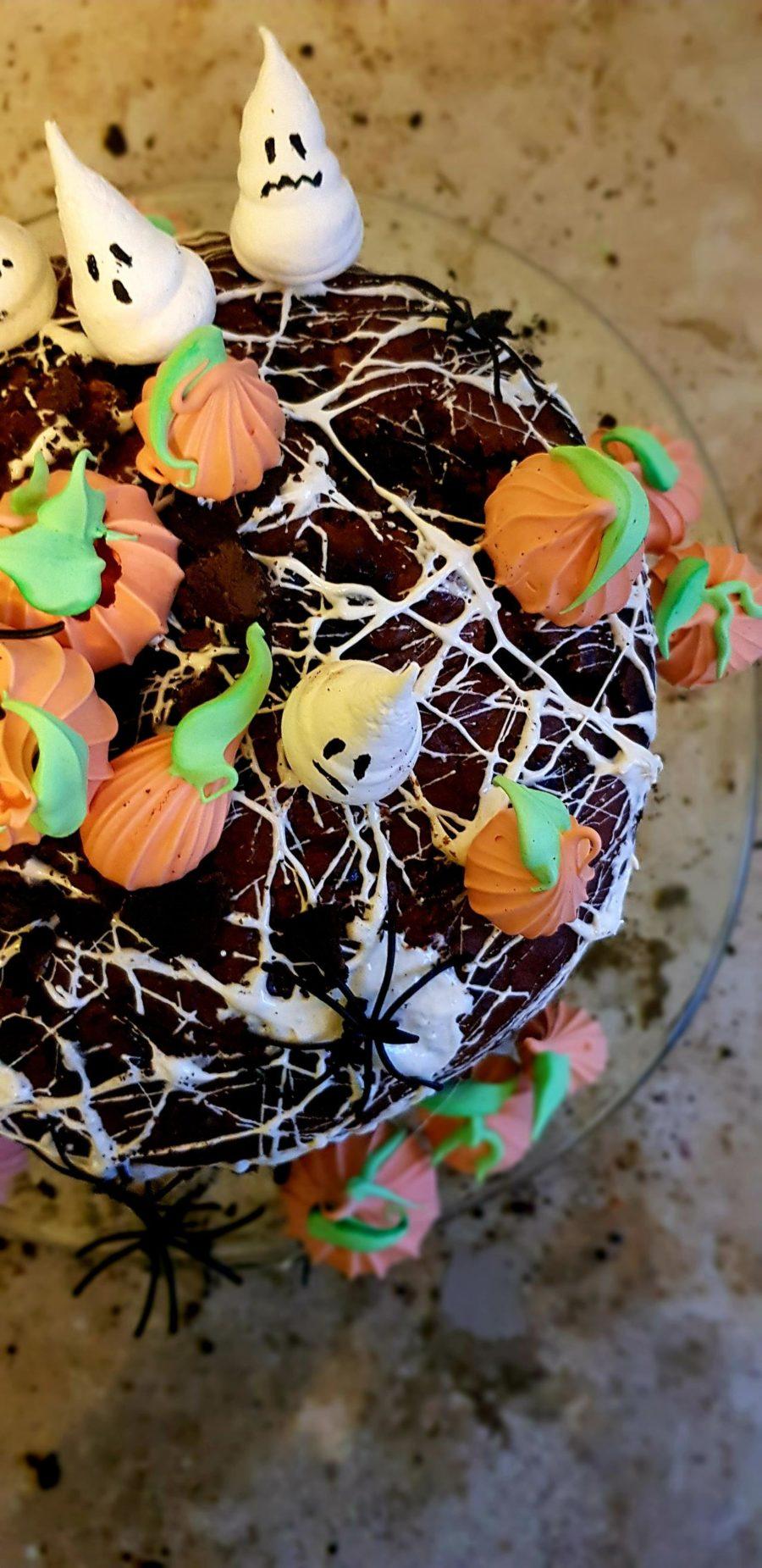 halloweenowe ciasto czekoladowo-dyniowe