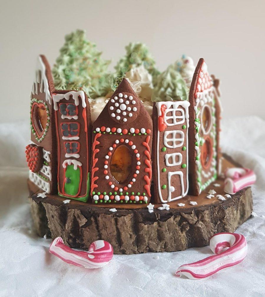 tort czekoladowo-piernikowo-kajmakowy