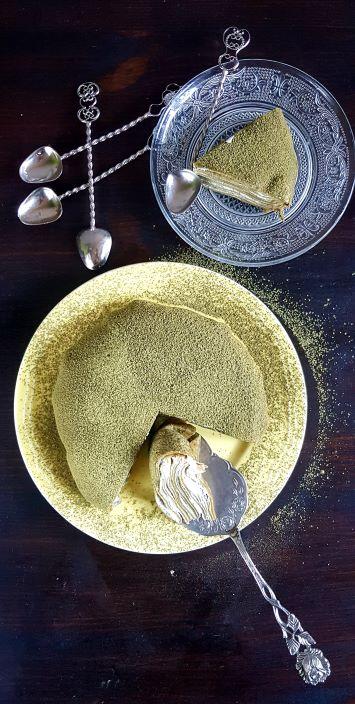 Mille crape Matcha cake