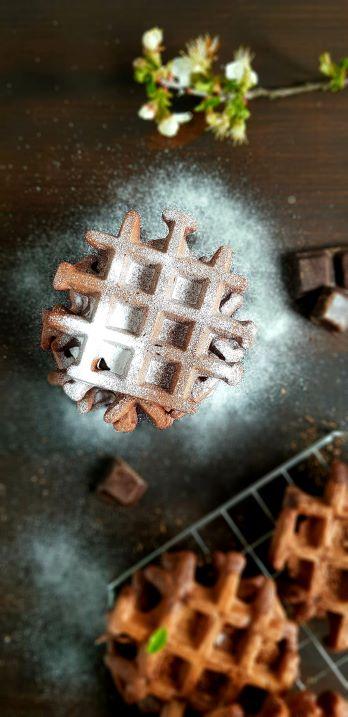 gofry czekoladowe